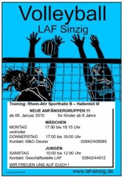 Volleyball-Anfängergruppen: Komm, spiel mit!