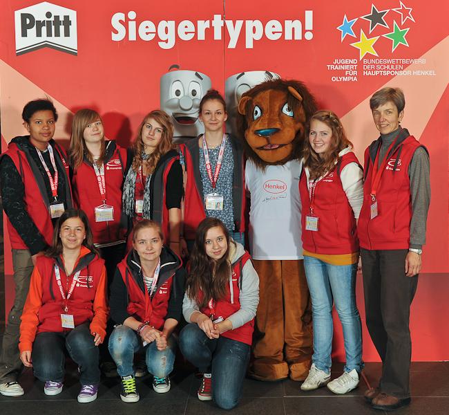 Volleyballerinnen des Rhein-Gymnasiums Sinzig in Berlin auf Platz 14