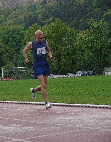 Wolfgang Kownatka kurz vor dem Ziel nach 400 m