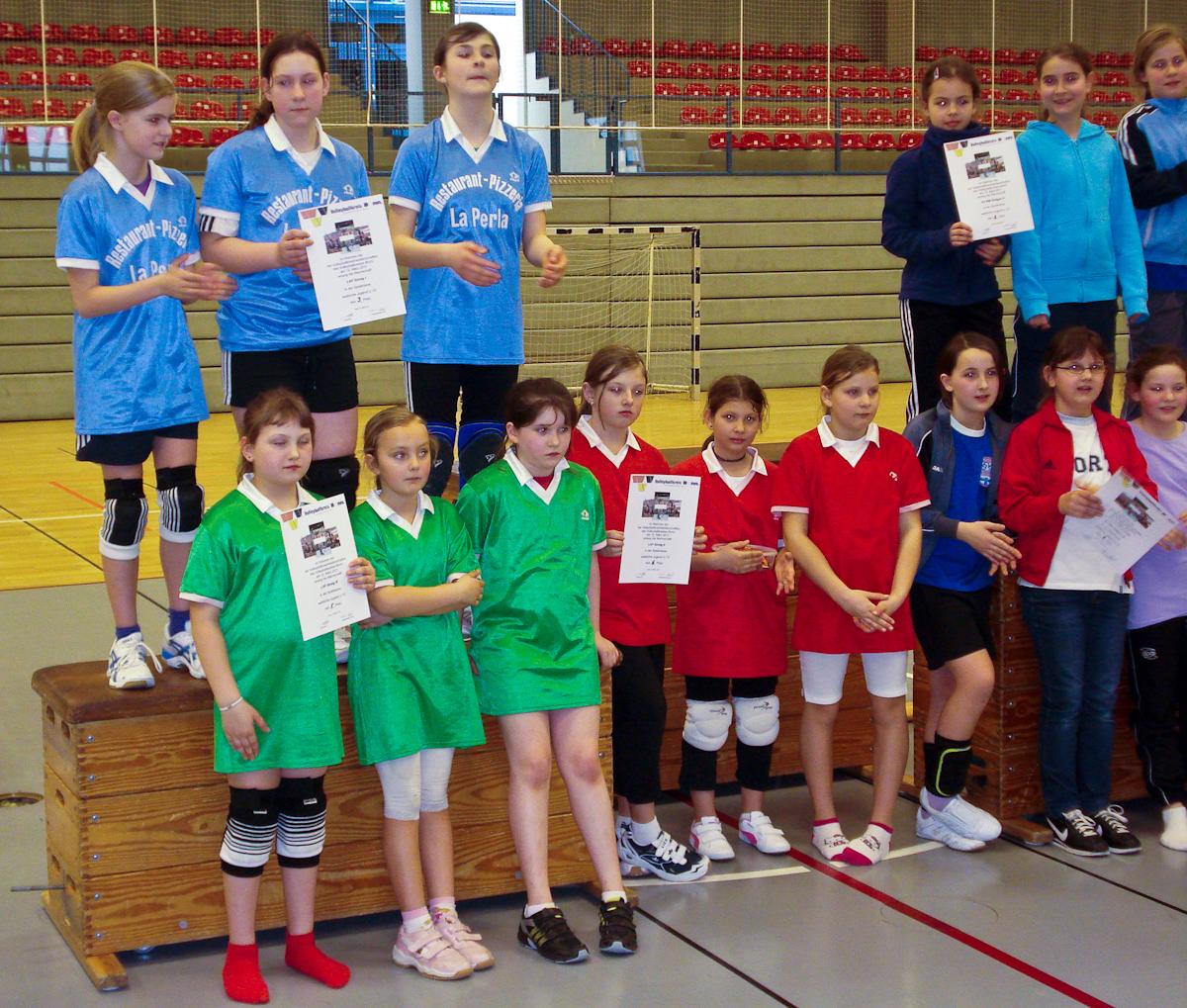 Sinziger Volleyball-Nachwuchs bei einem Turnier in Bonn
